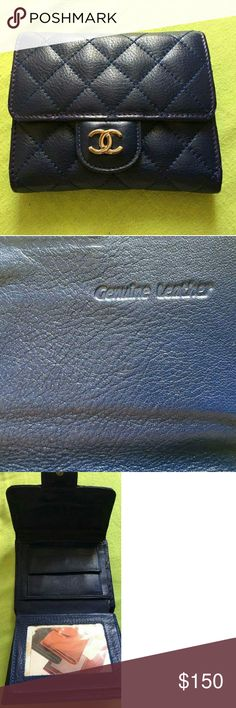 Wallet 🌼New Beautiful dark blue Leather wallet🌻 Not Rated Bags Wallets