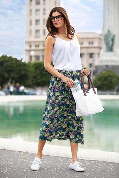 Chillytime Jerseyrock im Ackermann Online Shop Tropical Paradise, Midi Skirt, Skirts, Shopping, Fashion, Moda, Midi Skirts, Fashion Styles, Skirt