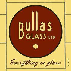 "Jack Jackowetz, Bullas Glass Sign, 12"" x 12"", Giclee on Canvas"