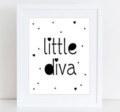 Little diva Scandinavian print Baby girl Nursery от WallArt2Decor