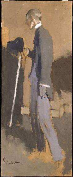 Aubrey Beardsley / by Walter Richard Sickert / 1894 / tempera on canvas