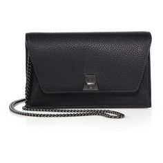 Akris Anouk Mini Metallic Leather Envelope Clutch (10 210 SEK) ❤ liked on Polyvore