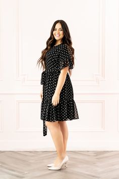 Polka Dot Day Dreams - Pink Peonies by Rach Parcell Dressy Outfits, Summer Outfits, Dot Day, Polka Dot Tie, Tie Dress, Spring Summer Fashion, Feminine, Style Inspiration, Dreams