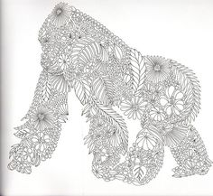 A really cool gorilla figure great for coloring! Follow us at bestadultcoloringbooks