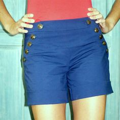 free pattern Ruby Sailor Shorts post in French, link to burda