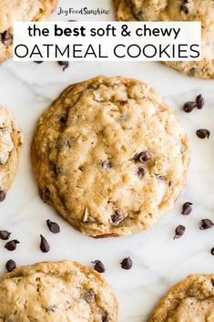 The BEST Oatmeal Cookie Recipe - crispy edges with soft and chewy centers, these oatmeal cookies are easy to make (no chilling, simple ingredients) and out-of-this-world delicious. Add your favorite mix-ins for an extra special twist! Soft Chewy Oatmeal Cookies, Oatmeal Cookie Recipes, Chocolate Chip Oatmeal, Fun Baking Recipes, Dessert Recipes, Desserts, Kitchen Recipes, Recipes Dinner, Cooking Recipes
