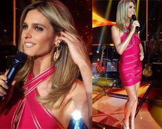 Vestido de Fernanda Lima no Programa Superstar Já deu para perceber que Fernanda Lima adora um vestido bandagem, o da vez é da grife Balmain...
