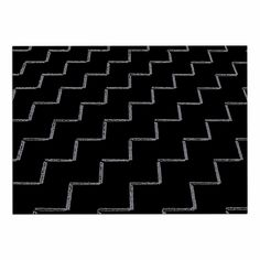 Kess InHouse BarmalisiRTB Triangle Desert Black White Digital Wall Tapestry