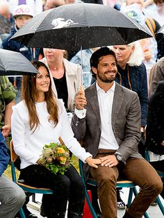 "In late August, the newlyweds embarked on their first joint royal tour to the town of Arvika to visit Byanmossarna, a nature preserve. Despite the rain, the two were all smiles, telling the Swedish newspaper Expressen that they were ""so happy to be here."""