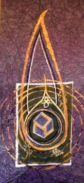 Rizwana A.Mundewadi www.razarts.com  Pure Anthakarna Reiki symbol healing painting meditation, purification, purple healing!