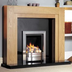 GB Mantels Henley Oak Fireplace Suite