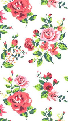 iphone wallpaper floral Red Roses Find more Vintage wallpapers for your + prettywallpaper Floral Wallpaper Desktop, Print Wallpaper, Cute Wallpaper Backgrounds, Flower Wallpaper, Pattern Wallpaper, Cute Wallpapers, Vintage Wallpapers, Iphone Wallpapers, Phone Backgrounds