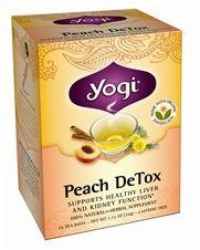 Zoom View - Peach DeTox Organic Cleansing Tonic Tea Caffeine Free