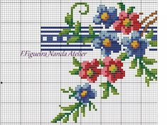 Cross Stitch Rose, Cross Stitch Borders, Cross Stitch Flowers, Cross Stitching, Cross Stitch Embroidery, Cross Stitch Patterns, Baby Dress Patterns, Rico Design, Bargello