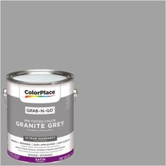 ColorPlace Grab-N-Go, Interior Paint, Satin Finish, Granite Grey, 1 Gallon, Gray