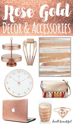 Design Trend: Stylish Rose Gold Home Decor and Accessories . Home Trends rose gold home decor trend Rose Gold Rooms, Rose Gold Decor, Gold Home Decor, Cheap Home Decor, Gold Home Accessories, Decorative Accessories, Trend Accessories, Bathroom Accessories, Bedrooms