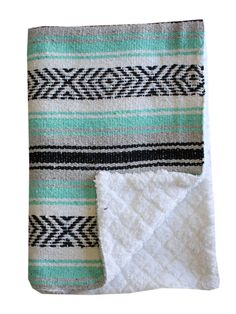 Baja Baby™ Mexican Baby Blanket -Sea Foam Dream
