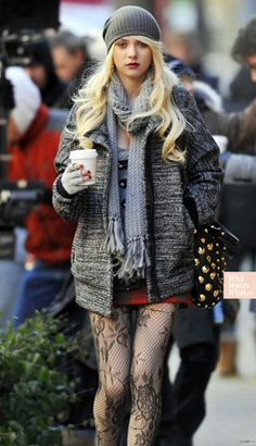 her tight collection > Daily Fashion, Fashion Beauty, Womens Fashion, Fashion Trends, Taylor Momson, Jenny Humphrey, Baby Tights, Gossip Girl Fashion, Patterned Tights