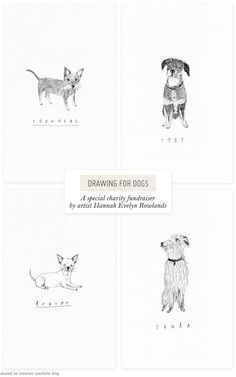 Drawing forDogs - Home - Creature Comforts - daily inspiration, style, diy projects + freebies