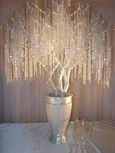 Wedding Reception Chic Wedding ICE CRYSTAL GarlandCenterpiece by TheFrenchSecret - Up for your consideration and pleasure.Wedding Crystal Garland Centerpiece Decoration Designer Garland designed exclusively for a STYLISH Crystal Garland, Crystal Tree, Glass Crystal, Crystal Beads, Crystal Diamond, Tree Wedding, Chic Wedding, Wedding Reception, Wedding Vintage
