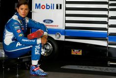 Danica Patrick Photos Photos - Danica Patrick, driver of the #10 Aspen Dental Ford, sits in the garage during practice for the Monster Energy NASCAR Cup Series Auto Club 400 at Auto Club Speedway on March 25, 2017 in Fontana, California. - Auto Club Speedway - Day 2