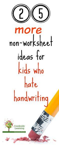 fun handwriting practice, no worksheets