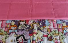 Pink princess childs quilt baby quilt toddler by 3Jenerations