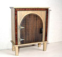 Rustic Cupboard, Medieval Dollhouse Miniature 1/12 Scale, Hand Made in the USA