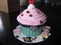 Littlest Pet shop giant cupcake — Children's Birthday Cakes
