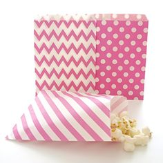 Hot Pink Goodie Bags, Bridesmaid Gift Bag, Party Favors Bags, Goody Bags Ideas, 75 Pack - Fuchsia, Striped, Polka Dot and Chevron * Quickly view this special product, click the image : Christmas Tag, Cards, Gift Boxes
