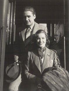 Errol Flynn with his first wife Lili Damita. Married 1935.