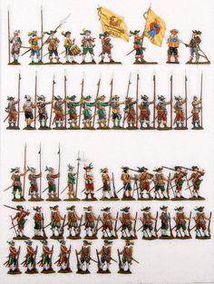 (01086) Schweden um 1630, Infanterie, Regiment Berghofer | eBay
