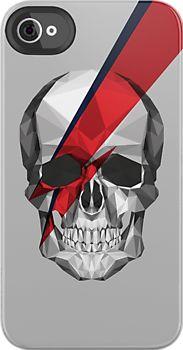 Ziggy Skulldust Art Print by Jamie Harrington Low Poly, Crane, Sketchbook Assignments, Hipster Design, Skull Painting, Skull Fashion, Ziggy Stardust, Skull Design, Skull And Bones