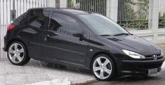 """Peugeot 206 com rodas TSW Reflex Aro 17"""""""