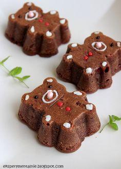 Kakaowe miśki z malinami i białą czekoladą