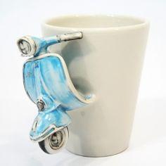 Image detail for -Classic Blue Vespa Mug Art Ceramic Handmade Decorative Gifts 0002 ...