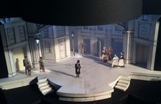 Preliminary models of the A Christmas Carol set, designed by Antje Ellerman --Photo by Philip Allgeier