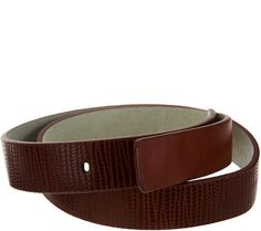 Chances are, this H by Halston leather belt is unlike any other you've ever owned. Page 1 QVC.com