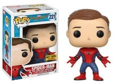 Funko Pop Marvel Spider-Man Homecoming Unmasked (#221) Hot Topic Excl SHIPS FREE