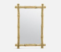 """'Gilles' Mirror, Polished Brass, 26""""W x 38""""H. 