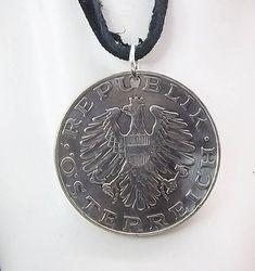 Eagle Coin Necklace Austrian 10 Schilling Coin Pendant