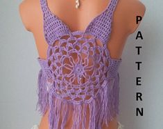 15 Ideas For Knitting Patterns Free Gifts Friends Crochet Vest Pattern, Crochet Shirt, Top Pattern, Knitting Patterns Free, Free Pattern, Crochet Patterns, Bikini Pattern, Crochet Halter Tops, Crochet Bikini Top