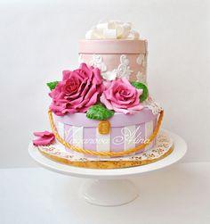 Vintage luggage wedding cake gift box cakes boxed cake and cake negle Images