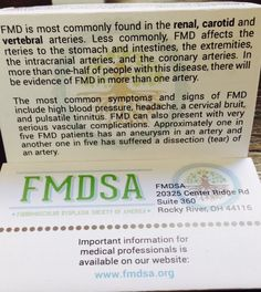 The FMD Emergency Alert Card can be found at fmdsa.org and printed.