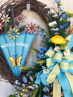 Garden Spring Mixed Round Summer Grapevine Wreath by WilliamsFloral on Etsy https://www.etsy.com/listing/400110389/garden-spring-mixed-round-summer