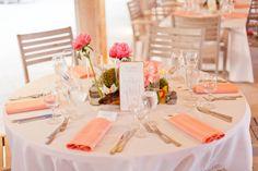 Modern Pink & Orange Beach Wedding