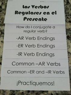 Spanish-Present-Tense-Regular-Verbs-Interactive-Flip-Book-1388401 Teaching Resources - TeachersPayTeachers.com