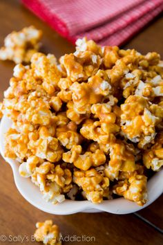 Homemade Caramel Corn - the BEST of the best. It's simple, crunchy, sweet, and irresistible!