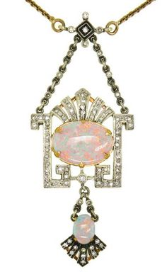 FABERGE Opal and Diamond Necklace❤≻⊰✿⊱≺❤