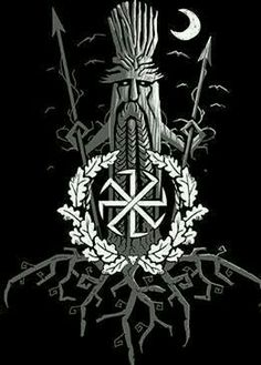The oak tree the symbol of the Aelic gods, spear in each hand defending the shrines and groves.